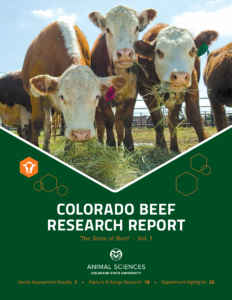 Cover of Colorado Beef Research Report